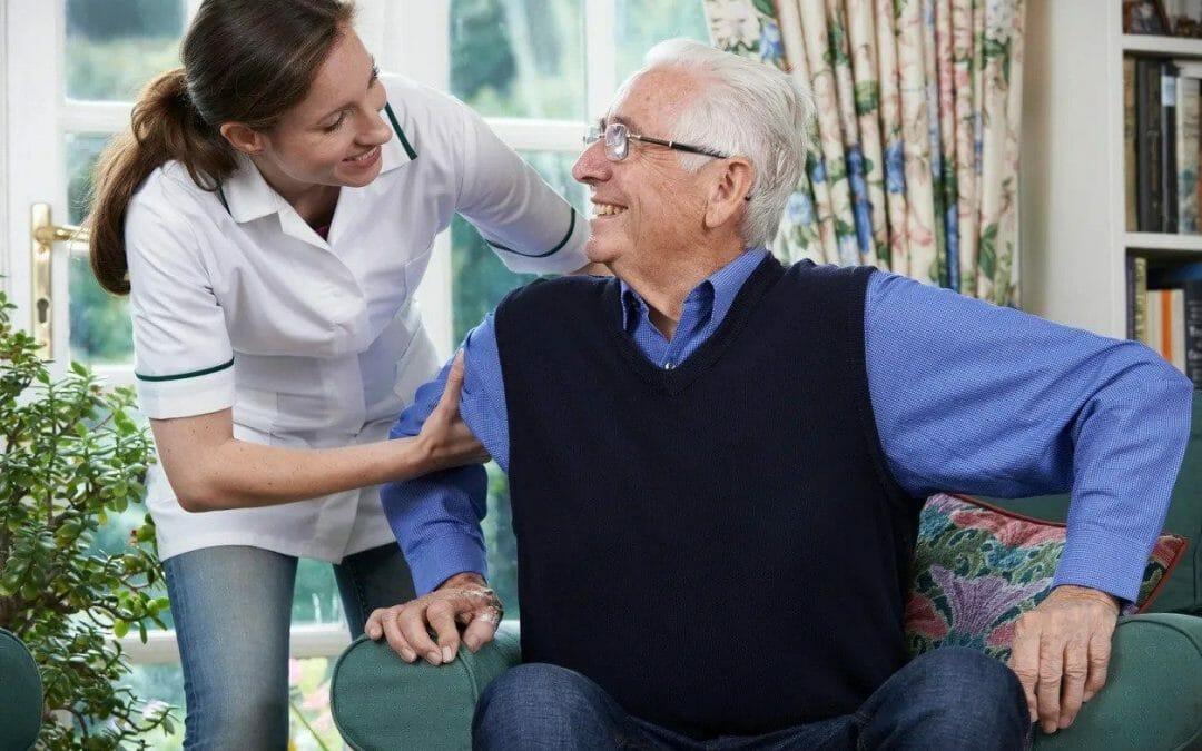 Carer and an elderly gentleman